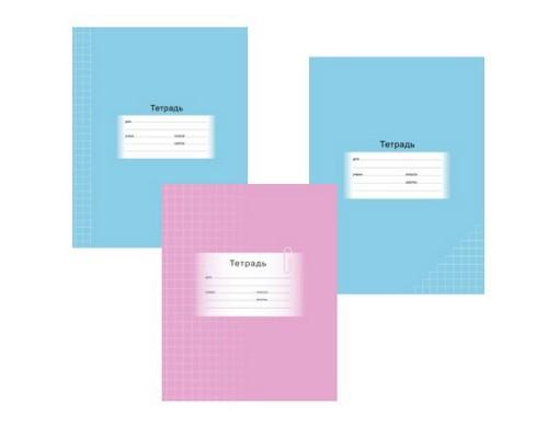 Тетрадь 18 листов клетка 2505/0592 Школьная мелованный картон ассортимент BG
