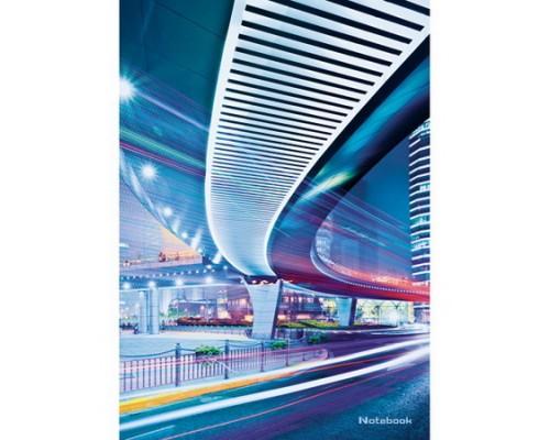 Книга для записей А4 80 листов Городской стиль.Ночной мегаполис
