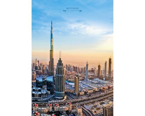 Книга для записей А4 100 листов Современный город