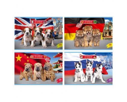 Альбом для рисования 16 листов World of dogs (ассорти)
