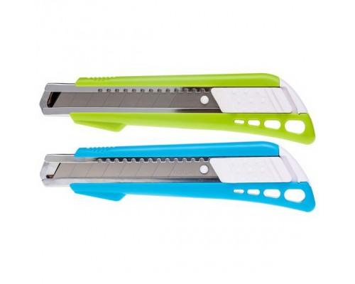 Нож канцелярский 18мм. Hatber BRAVO AUTO-LOCK + 2 запасных лезвия