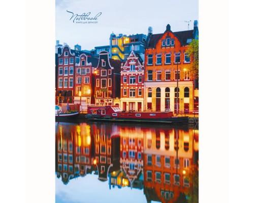 Книга для записей А4 80 листов Очарование Амстердама