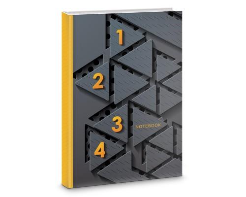 Книга для записей А5 160 листов Модный черный