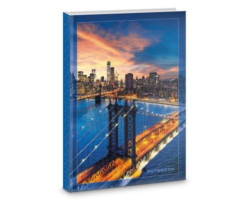 Книга для записей А5 160листов Мегаполис