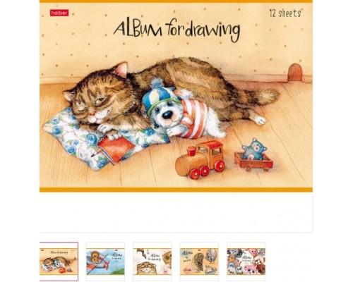 Альбом для рисования 12 листов Милые зверушки