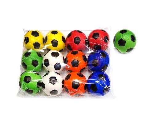 Мяч 6,3см, Футбол классика, полиуретан, в асс.